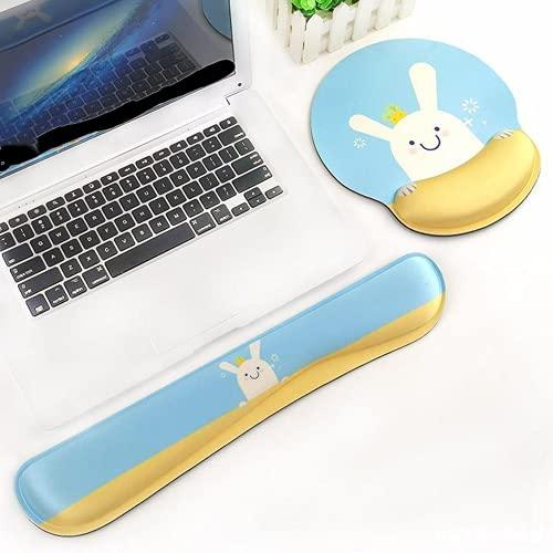Alfombrilla para Mouse Y Reposamuñecas, Mouse Ergonómico para Reposamuñecas Alfombrilla para Mouse con Reposamuñecas Adecuado para Computadora Oficina Trabajo Juegos Alivio del Dolor