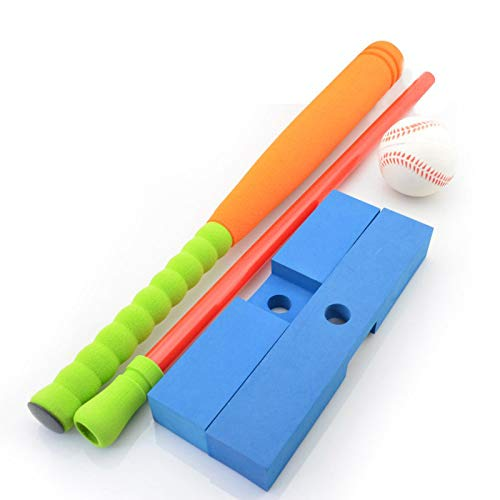 Baseball Toy Set for Toddlers, Soft Foam T Ball for Children, with 1 Baseball, 1 Tee, 1 Ball, Improved The Hitting Skills of Boys and Girls
