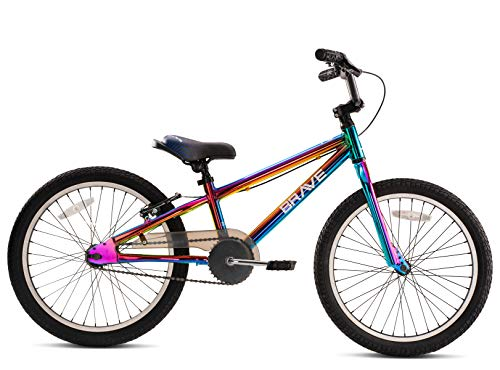 "Brave Freestyle Kids 20"" Bicycle, Lightweight Aluminum Frame, Easy to Ride! Premium Parts, Premium Safety, Without The Premium Price! (Oil Slick)"
