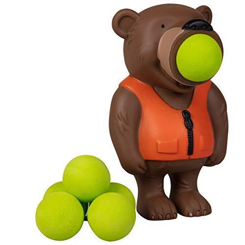 Hog Wild Bear Popper Toy - Shoot Foam Balls Up to 20 Feet - 6 Balls...