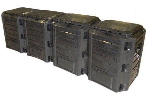 rg-vertrieb Garten Komposter 1600L Schwarz Modul Thermokomposter Kompostbehälter Kunststoff