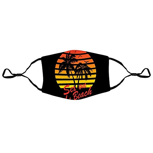 Mundschutz Sex On The Beach 80s Sunset Personalized Anti-Dust Face Scarf Mouth Cover Face Cover