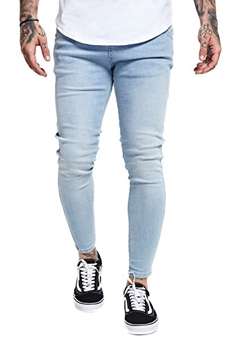 Sik Silk heren jeans Skinny Denim SS-13003 lichtblauw Light denim
