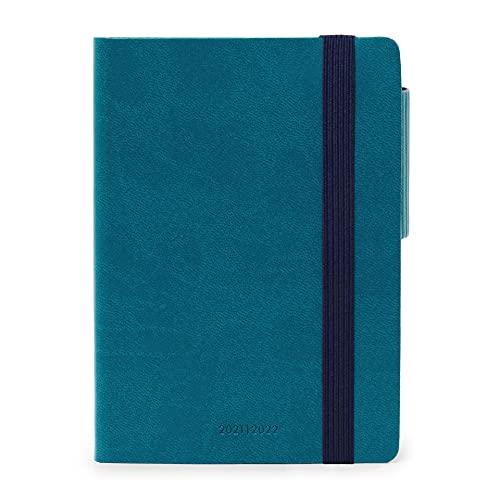 Legami - Agenda Settimanale 18 mesi 2021 2022, Small con Notebook, Petrol Blue