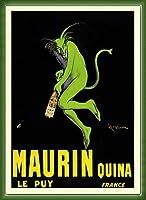 ポスター レオネット カピエッロ Maurin Quina le Puy 額装品 ウッドベーシックフレーム(グリーン)