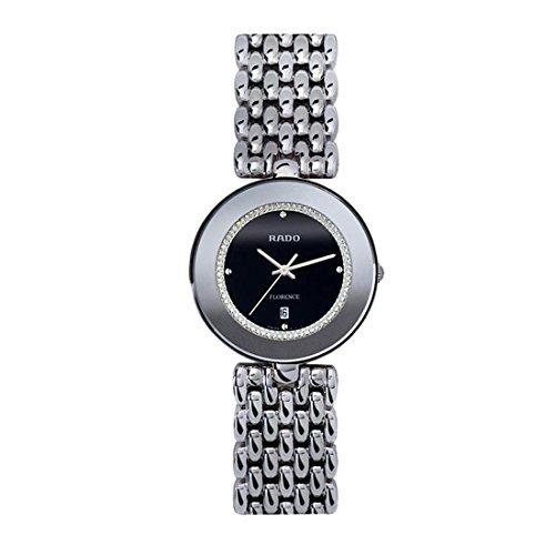Rado Women's R48742163 Florence Stainless-Steel Quartz Black Dial Watch