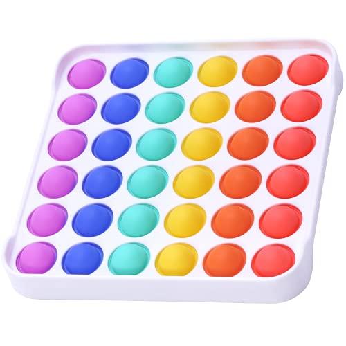 HOMYBABY® Pop it - Fidget toy pack - Juguete sensorial antiestres para niños - Push pop bubble - Jumbo pop it arcoiris - Popit fidget toys - Pop it cuadrado