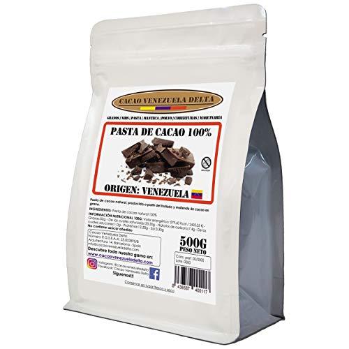 Chocolate Negro Puro 100% - Origen Venezuela - Bolsa 500g - (Puro, natural y en trocitos) - Cacao Venezuela Delta