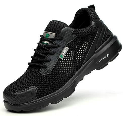 [EVIICC] 安全靴 作業靴 地下足袋 メンズ レディース 耐磨耗 衝撃吸収 つま先保護 スニーカー 登山靴 防滑 通気性 軽量 夏
