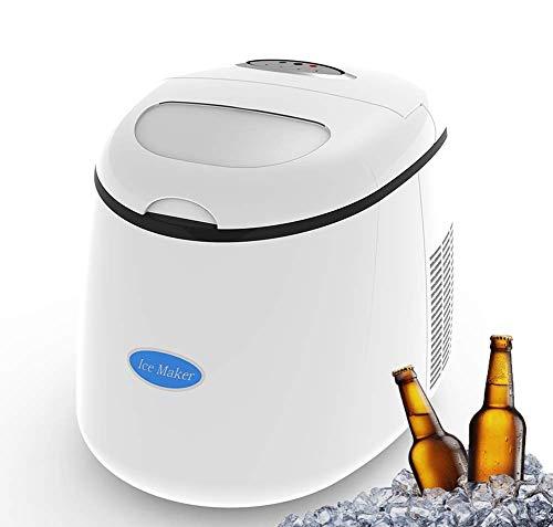 Dpliu Aufsatz- Eismaschine, Hersteller tragbare Mini-Silent-Eiswürfel, 22 Lbs / 24 Stunden, Eiswürfel Bereit in 6 Min, for Parties Mischgetränke & Family