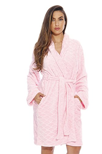 Just Love Kimono Robe / Bath Robes for Women, Size2X Plus, Light Pink