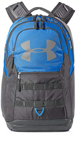 Under Armour Big Logo 5.0 Backpack, Blue Circuit (436)/Steel, One Size Fits All