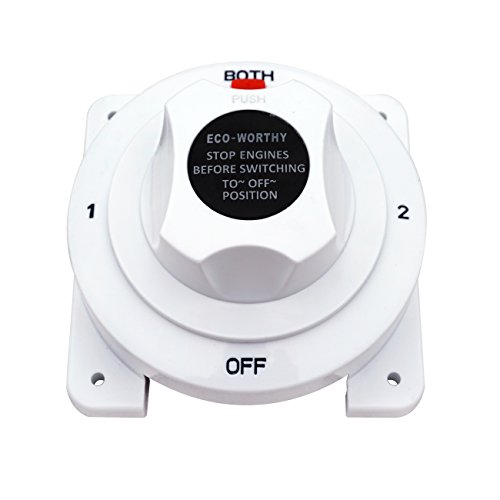 ECO-WORTHY Batterie Wahlschalter Schalter/Trennschalter 12V