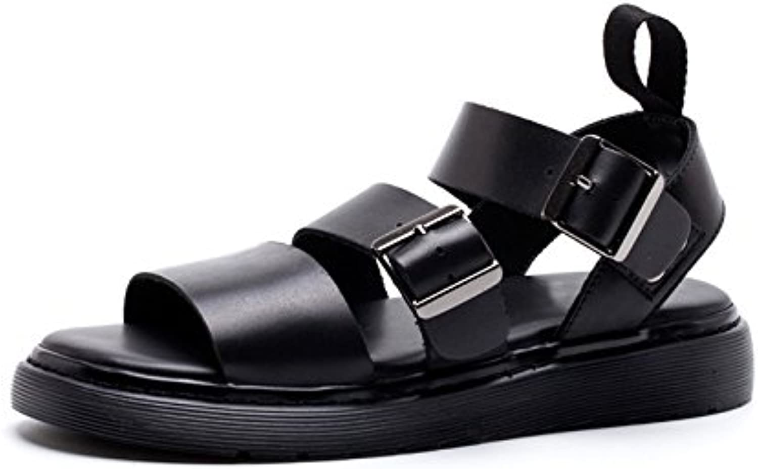 Men's sandals leather casual shoes soled sandals