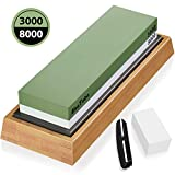 AivaToba Sharpening Stones 2 Side Grit 3000/8000 Whetstone - Kitchen Knife Sharpener Waterstone with...