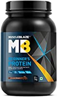 MuscleBlaze Beginner's Whey Protein Supplement (Chocolate, 1 kg / 2.2 lb, 33 Servings)