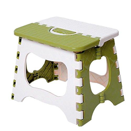 QARYYQ Kruk Mini Draagbare Klapstoel Vouwen Kruk Trein Thuis Stoel Dikke Plastic Kruk Kleine kruk (Maat: L)