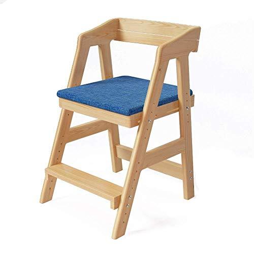 jiyy Kinderstoel Eten, Studeerstoel, Massief Houtliftstoel, Correctieve zittende houding/Anti-bijziendheid/Humpback/Verstelbare hoogte