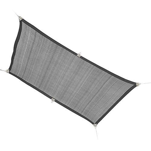 LiQi Filet D'ombrage Tissu D'ombrage Résistant Aux UV À 90% avec Œillets Amovibles, Tissu D'ombrage de Terrasse Gris pour Les Plantes, Abri D'auto pour Terrasse (Size : 5×6m/16.4×19.7ft)