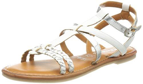 Tamaris Women's 1-1-28131-26 Sandal, White Silver, 5 UK