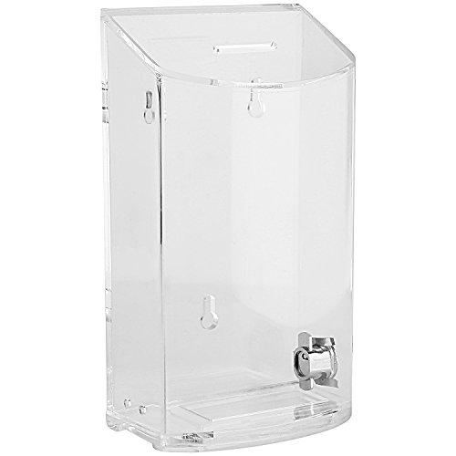 MCB – Caja de acrílico redondeado – Caja de caridad – Caja de donación – Caja de colección – contenedor de consejos – Kupat Tzedakah