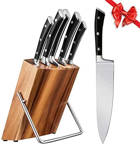 Cuchillos Cocina Profesional, Set Cuchillos 6 Piezas, Juego Cuchillos de Acero Inoxidable con...