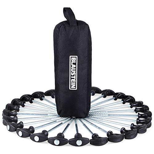 Blaustein Zeltheringe I Heringe fürs Camping I Lange Zelthaken aus Stahl I Premium Zeltnagel Set - 25 Stück