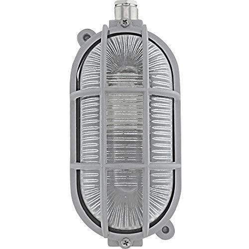 Tolleno LED E27 10W kelderlamp kelderlamp vochtige ruimtes lamp lamp maritiem buitenplafond lamp tuin decoratie wandlamp buitenlamp rooster industrieel plafond lamp buitenverlichting ovale lamp