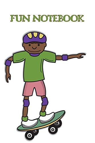 Fun Notebook: Boys Books - Mini Composition Notebook - Ages 6 -12 - Green Skateboard Notebook