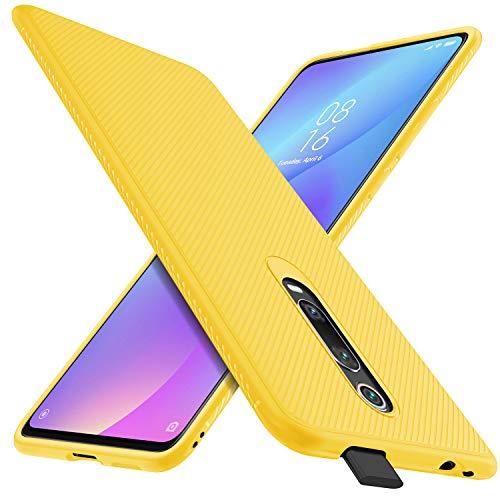 iBetter für Xiaomi Mi 9T Hülle, für Xiaomi Mi 9T Pro Hülle, Ultra Thin Cover Silikon Handyhülle Stoßfest Case Schutzhülle Shock Absorption Backcover Hüllen passt für Xiaomi 9T/ 9T Pro Phone (Gelb)