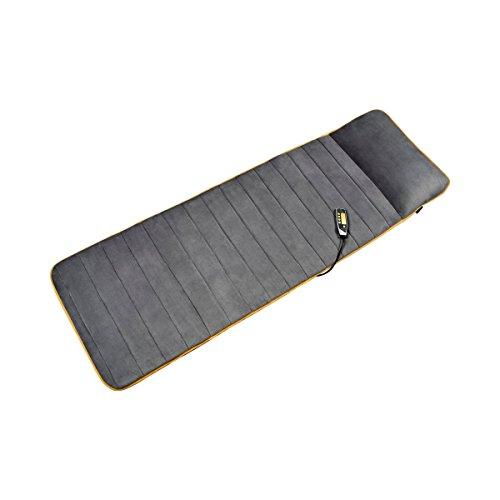 Medisana MM 825 massagemat, massagemat met 5 programma's en 4 massagezones, massageligstoel met warmtefunctie, fleece bekleding en 2 intensiteitsniveaus voor rug, nek en hoofd