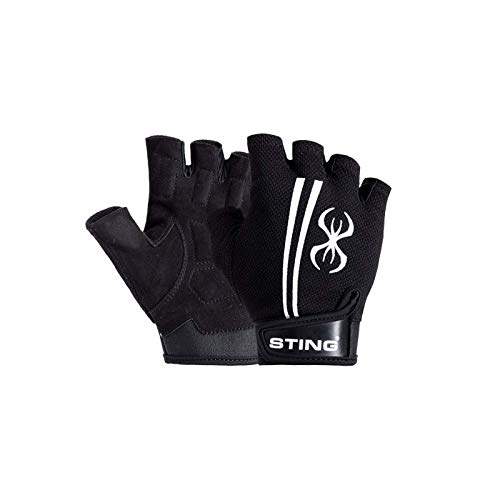 STING M1 Magnum Weight Lifting Gloves for Bodybuilding, Powerlifting, and Crossfit – Black, S