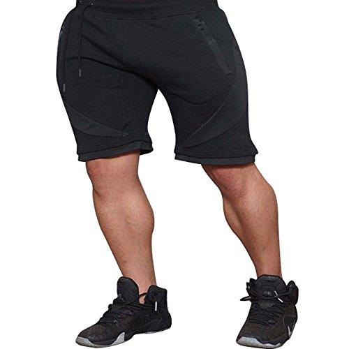 FRAUIT heren sweatshort sport fitness korte joggingbroek elastisch stretchy bodybuilding muscleBermuda joggingbroek met koord regular fit