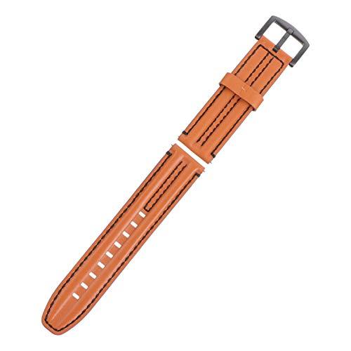 POPETPOP Pulseira de Relógio de Couro Pulseira de Substituição de Pulseira Compatível Com Relógio Gt1 / 2 Huawei Honor Magics Marrom