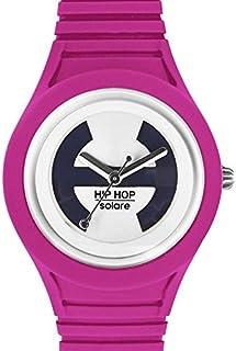 Hip Hop Watches - Orologio da Donna Fucsia Purple HWU0532 - Collezione Solare - Cinturino in Silicone - Impermeabile 5 ATM...