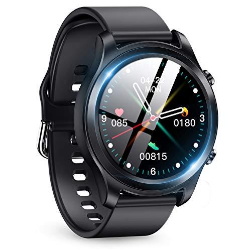 スマートウォッチ 2020年最新 Bluetooth5.0 smart watch 活動量計 多機能 スマートブレスレット フルタッチスクリーン スポーツウォッチ IP68防水 ストップウォッチ 万歩計 歩数計 腕時計 目覚まし時計 長座注意 多運動モード 着信&メッセージ通知 プレゼント iPhone/Android 日本語対応