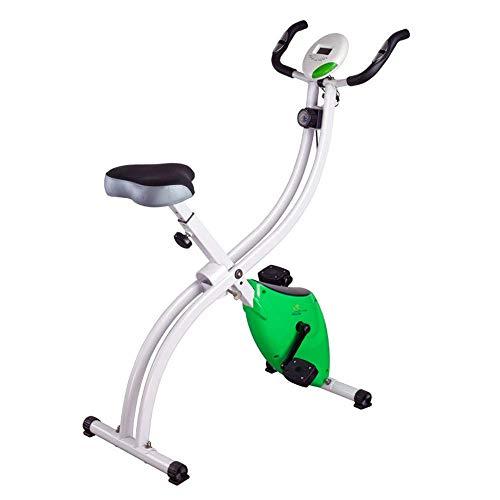 LSYOA Indoor Bicicleta Plegable Magnético Vertical Bike Bicicleta Spinning Horizontal Bicicleta Estática,Green