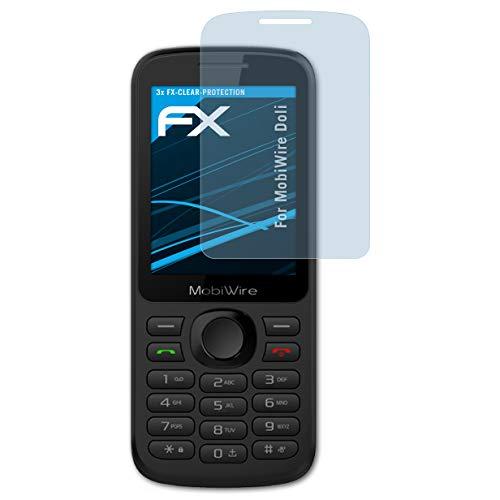 atFolix Schutzfolie kompatibel mit MobiWire Doli Folie, ultraklare FX Bildschirmschutzfolie (3X)