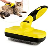 ARELLA Pet Self Cleaning Slicker Dog Brush Grooming Tool for Shedding Dog&Cat Long Thick Hair Remove Loose Undercoat Tangled Knots Matted Fur PCB01Y