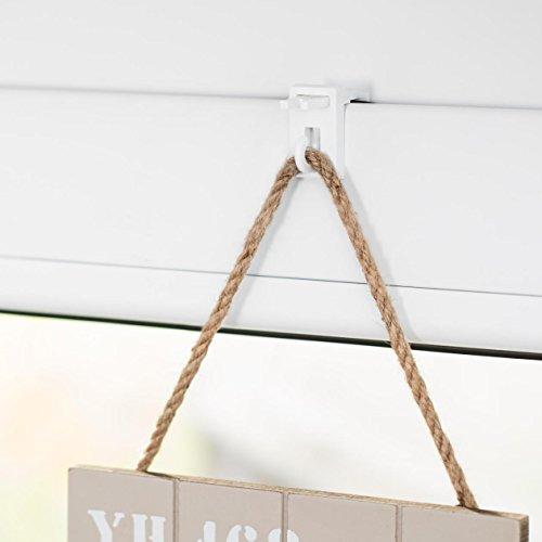 Lichtblick KH.001.SB Fensterhaken für Dekoration, Klemmfix, ohne Bohren