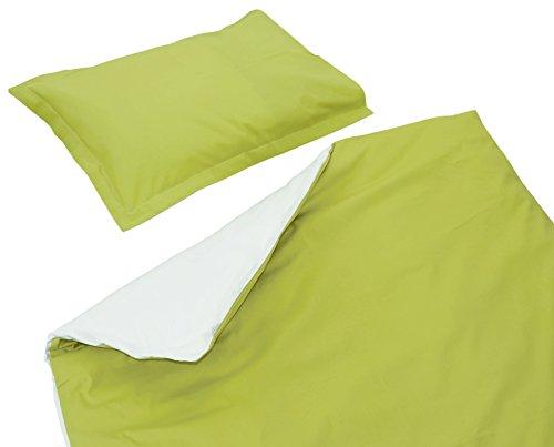 SoulBedroom Baby Vert & Blanc Linge de lit pour bébé (Housse de Couette 120x150 cm et Taie d'oreiller - 100% Coton)