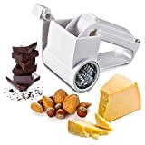 Rotary Cheese Graters, Stainless Steel Handheld Cheese Grater Kitchen Tool for Grating Hard Cheese Chocolate Nuts