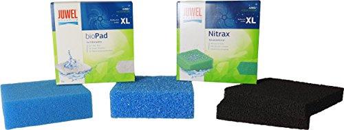 Friscer Filter Set für alle Juwel Bioflow Innenfilter mit Filterschwamm Kohleschwamm Biopad Nitrax (XL - Bioflow 8.0)