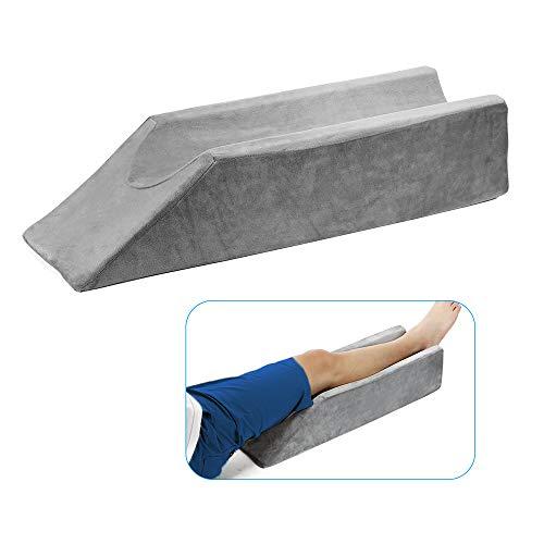 Leg Elevation Pillow Wedge Knee After Surgery Foot Elevation Elevated Leg Rest Pillow Elevating Bolster Knee Support Pillow Foam Elevator Leg Ramp Lift Foam Wedge Sleeping Cushion for Legs Ankle