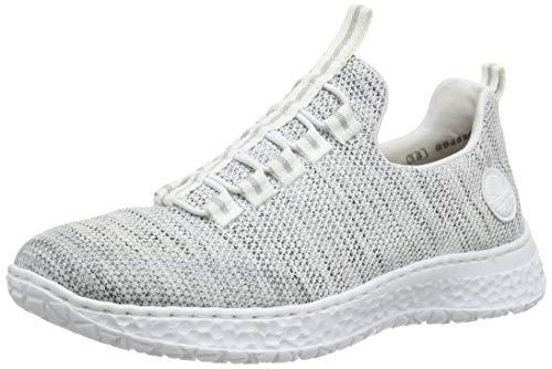 Rieker Damen Frühjahr/Sommer N4174 Sneaker, Weiß (Clear/Weiss-Rauch/Weiss/ 81 81), 36 EU