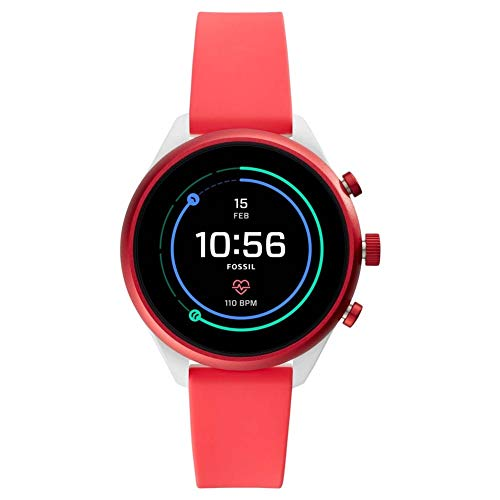 Fossil Womens Digital Connected Wrist Watch with Silicone Strap FTW6027