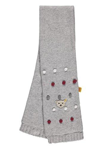 Steiff Steiff Mädchen Strick Schal, Grau (Snow Grey Melange|Gray 8359), One Size (Herstellergröße: II)