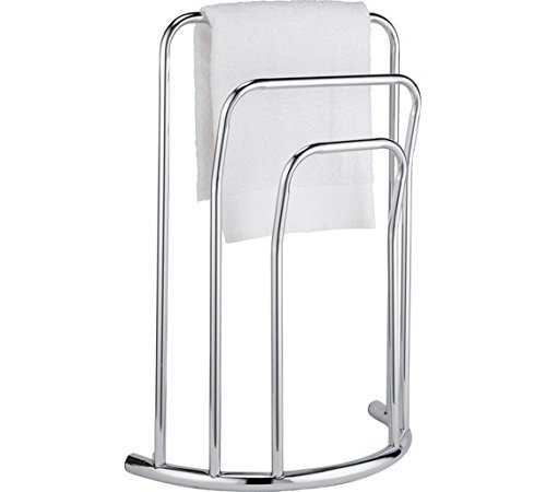 High Quality Curved 3 Bar Towel Rail - Chrome. by OnlineDiscountStore