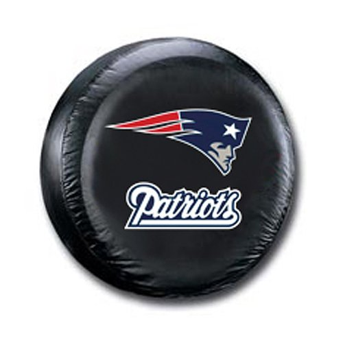 Team Sports Covers New England Tire Cover with Patriots Logo on Black - Large