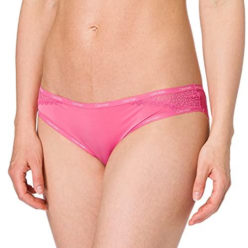 Calvin Klein Braguita Clásica-Flirty Ropa Interior, Smoothie Rosa, L para Mujer